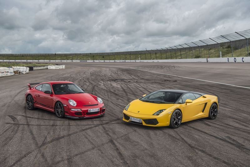 Silver Two Car Drive Supercar Driving Experience Package